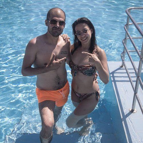 مسعود ترکیبی و دوست دخترش