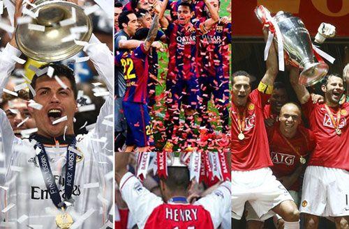 سه گانه لیگ برتر تیم های برتر منچستر یونایتد ، منچستر سیتی ، چلسی